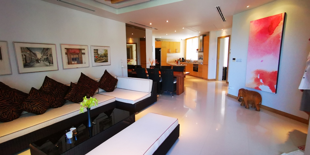 Very Rare Beachfront Apartment -Prime Real Estate Phuket 1701 DiningLiving.jpg