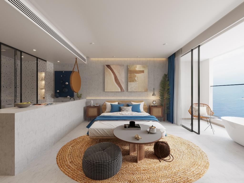Holiday Apartments Near The Beach-Holiday Apartments Near The Beach 1718D Prime Real Estate Phuket bed.jpg